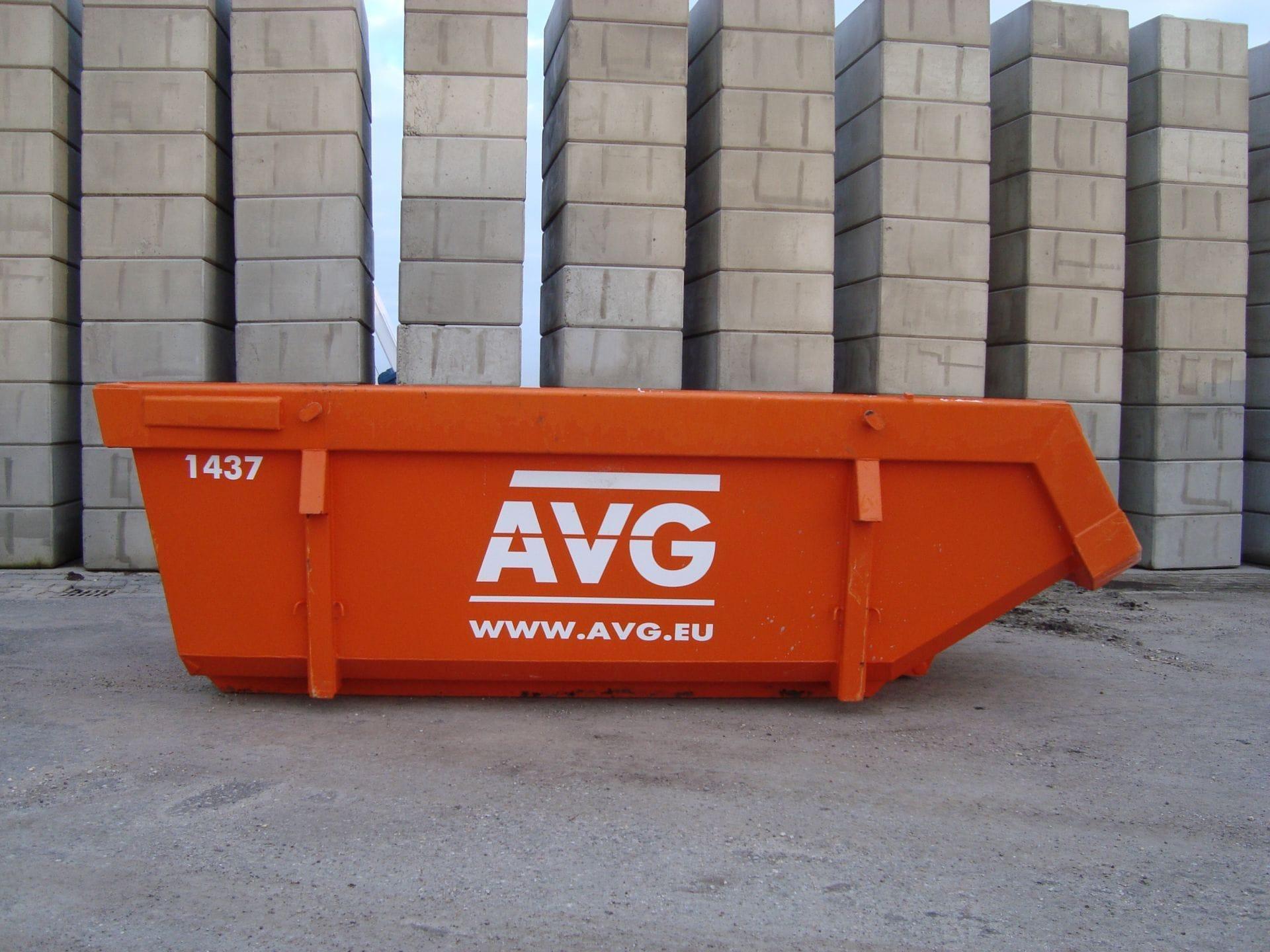Kleine container te huur bij AVG. AVG verhuurt allerlei afvalcontainers, zoals bouwbakkie, puincontainer, afval container, bouwafval container, container voor grond afvoeren, vuilcontainer, grofvuil container, bouwcontainer, containerbak, afzetcontainer, grond container, container voor puin afvoeren en andere open en gesloten containers met verschillende kuub inhoud.