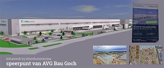 De AVG divisie AVG Bau Goch, levert onder- en bovengrondse diensten op het gebied van grond, weg- en waterbouw. Dit najaar gaan we aan de slag met de bouw van drie gloednieuwe distributiecentra in Keulen, Kerpen en Bergheim.