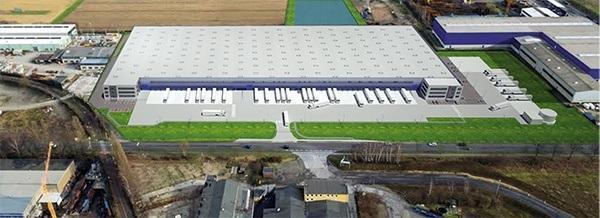 AVG actief bij de ontwikkeling van logisitiek- en distributiecentra in Dormagen iov IDI Gazeley. Een nieuwe generatie logistiekcentrum. Het infrawerk AVG.
