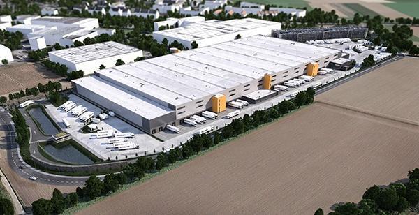 Amazon Distributiecentrum Mönchengladbach: Bremer AG, Ixocon, AVG Bau Goch Wegenbouw Infra