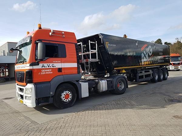 Volumekipper, Volumenkipper, 45m3, AVG Transport.