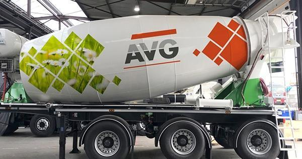 Hybride betonmixers van Wierda. HYBRID Betonmischer. AVG Bouwstoffen, AVG Baustoffe