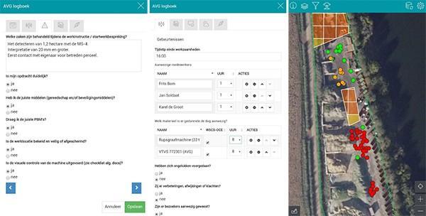 App OCE-deskundigen. AVG Explosieven Opsporing Nederland ontwikkelde samen met Nieuwland Geo-Informatie een app om de werkzaamheden op kantoor en in het veld gemakkelijker te maken.