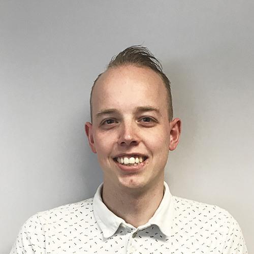 Nicky Siemes, junior calculator/werkvoorbereider bij AVG Wegenbouw, AVG Infra in Heijen.