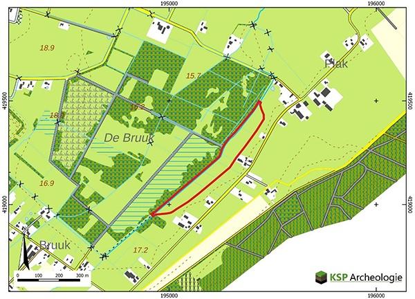 Explosieven opsporen, detecteren, in natuurreservaat De Bruuk in Groesbeek, gemeente Berg en Dal, door AVG Explosieven Opsporing Nederland.
