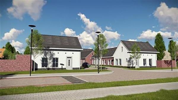 Bouwrijp maken grondstuk voor woningbouw. Grondverzet, riolering, betonstorten, bestratingswerkzaamheden etc. AVG Wegenbouw, AVG Bouwstoffen actief op Hoofdstraat in Heijen.