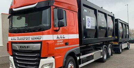 DAF Container truck Absetzkipper AVG Transport