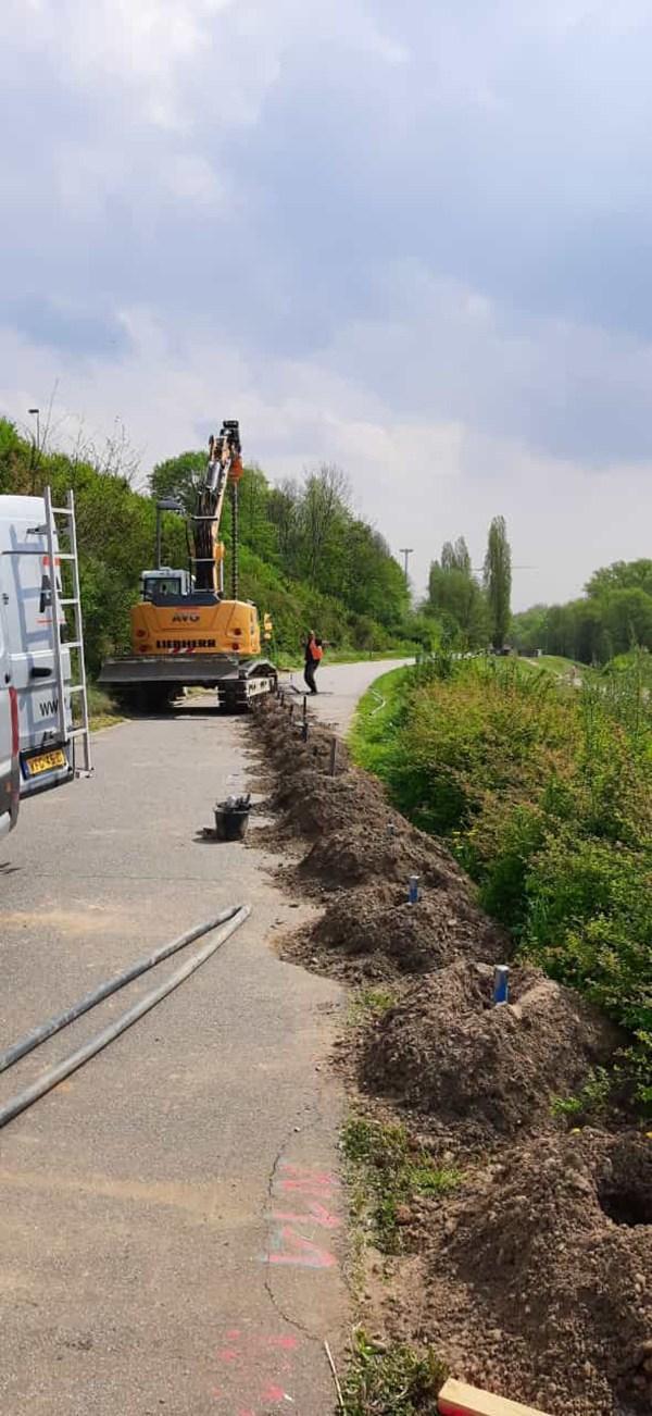 AVG Kampfmittelbeseitigung (Explosieven Opsporing) rond groot en zwaar project aan A1 in Leverkusen af.